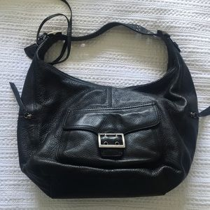 Banana Republic Black Genuine Leather Hobo Bag